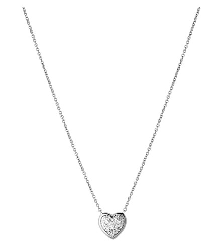 LINKS OF LONDON Diamond Essentials heart pave sterling silver necklace