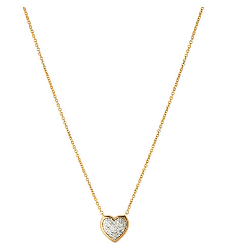 LINKS OF LONDON Diamond Essentials 18ct yellow-gold pave necklace