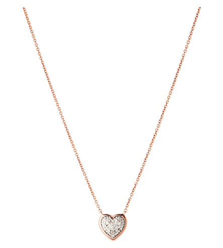 LINKS OF LONDON Diamond Essentials 18ct rose-gold pave necklace
