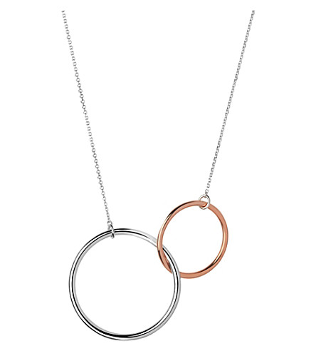 LINKS OF LONDON 20/20 sterling silver and 18ct rose gold necklace (Mixed+metal