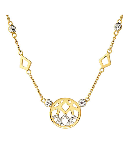 LINKS OF LONDON Timeless Gold 18ct yellow-gold and diamond necklace