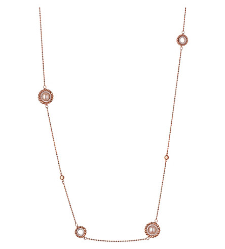 LINKS OF LONDON Effervescence 18ct rose gold, diamond and pearl necklace (Rose+gold