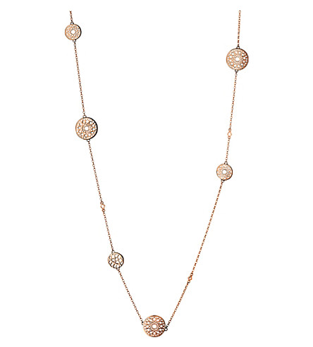 LINKS OF LONDON Timeless 18ct rose-gold vermeil station necklace