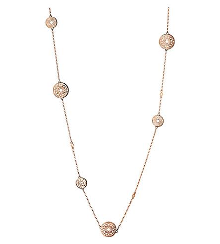LINKS OF LONDON 永恒的18ct 玫瑰金色文梅尔站项链