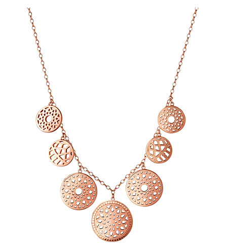 LINKS OF LONDON Timeless 18ct rose-gold vermeil coin necklace