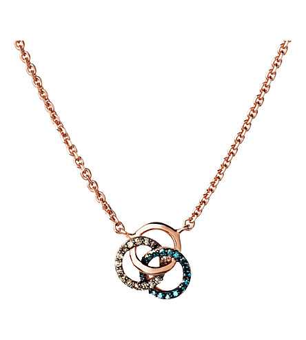 LINKS OF LONDON Treasured 18ct rose-gold and diamond necklace