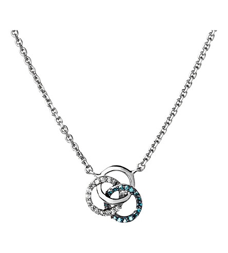 LINKS OF LONDON Treasured sterling silver and diamond necklace