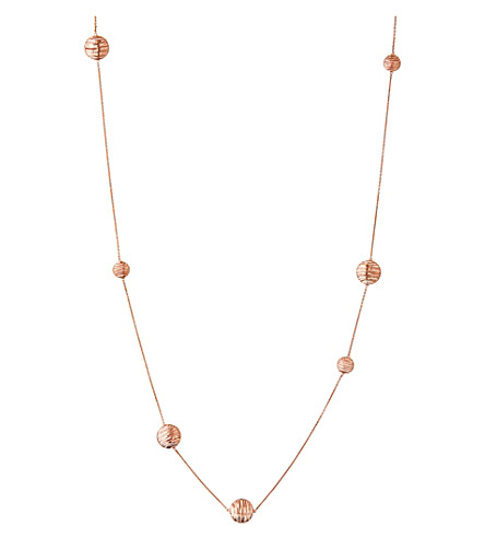 LINKS OF LONDON Thames 18ct rose-gold vermeil long necklace (Rose+gold