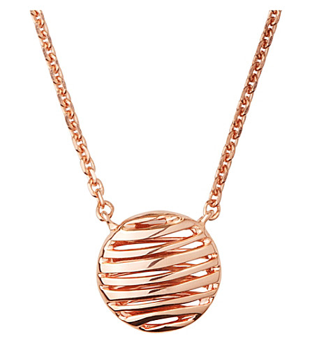 LINKS OF LONDON Thames 18ct rose-gold vermeil necklace (Rose+gold