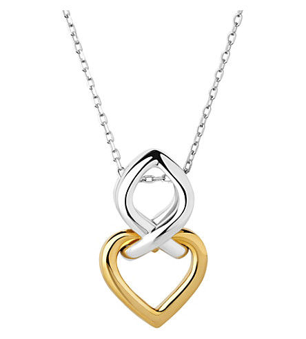 LINKS OF LONDON Infinite love 18ct gold vermeil and sterling silver pendant necklace (Silver