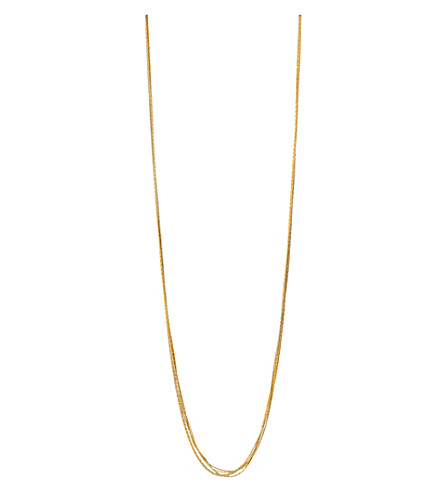 LINKS OF LONDON Essentials 18ct yellow gold-plated Silk 5 row necklace