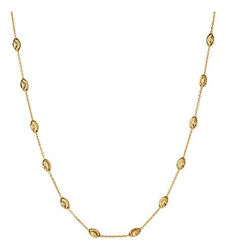 LINKS OF LONDON Essentials 18ct yellow gold-plated Beaded Chain necklace