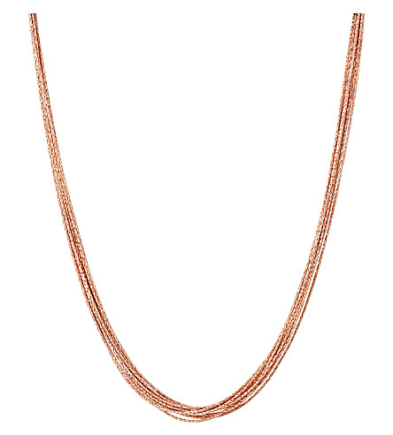 LINKS OF LONDON Essentials 18ct rose gold-plated Silk 10 row necklace
