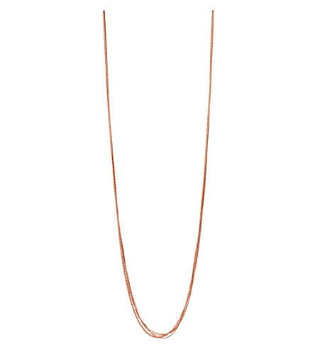 LINKS OF LONDON Essentials 18ct rose gold-plated Silk 5 row necklace