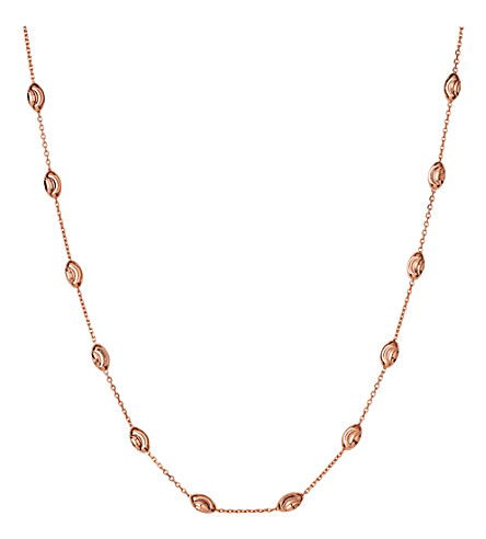 LINKS OF LONDON Essentials rose-gold vermeil beaded necklace 45cm
