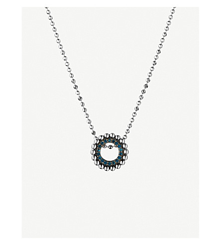 LINKS OF LONDON Effervescence mini sterling silver and diamond necklace