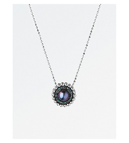LINKS OF LONDON Effervescence sterling silver, diamond and pearl necklace