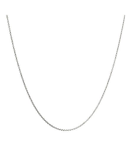 LINKS OF LONDON 18ct white gold cable chain