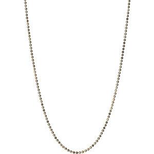 Gold 1.0mm 45cm diamond cut cable chain