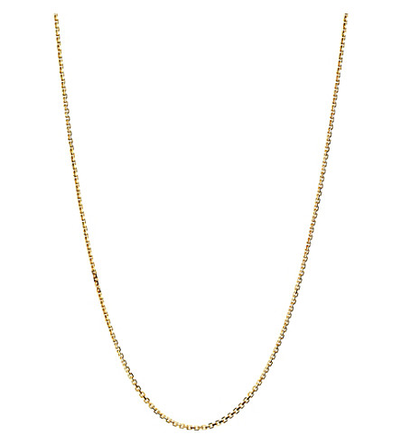 LINKS OF LONDON Essentials 18ct yellow-gold cable chain necklace