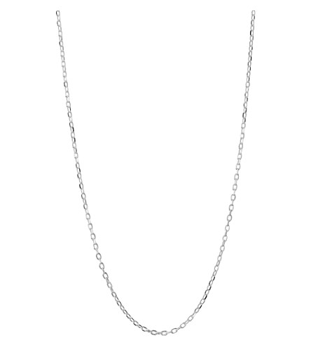LINKS OF LONDON Silver diamond-cut cable chain
