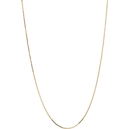LINKS OF LONDON Yellow gold 1.0mm 50cm diamond cut cable chain