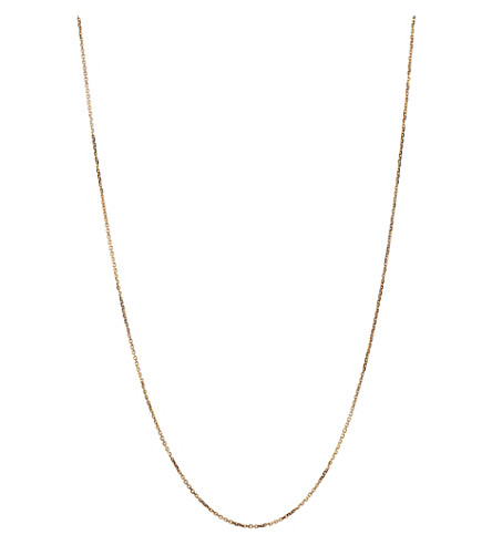 LINKS OF LONDON Rose gold 1.0mm 45cm diamond cut cable chain