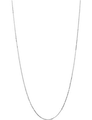LINKS OF LONDON 18 carat white gold 1.0mm 60cm diamond cut cable chain