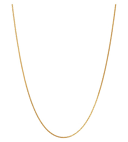 LINKS OF LONDON Yellow-gold vermeil diamond-cut chain