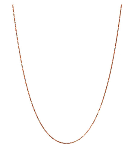 LINKS OF LONDON Rose-gold vermeil diamond-cut chain