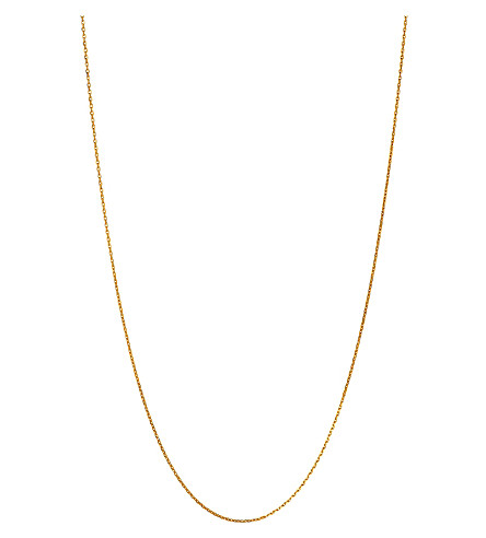 LINKS OF LONDON Diamond cut cable chain necklace (Yellow+gold+vermeil