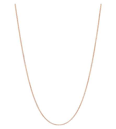 LINKS OF LONDON Essentials 18ct rose-gold vermeil cable chain 45cm (Rose+gold