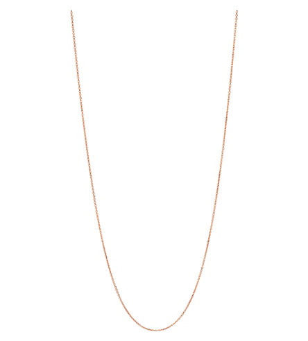 LINKS OF LONDON Essentials 18ct rose-gold vermeil cable chain 60cm (Rose+gold