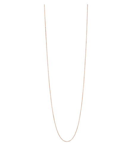 LINKS OF LONDON Essentials 18ct rose-gold vermeil cable chain 80cm (Rose+gold