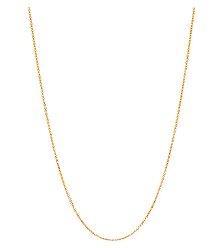 LINKS OF LONDON Essentials 18ct gold vermeil cable chain 45cm (Gold