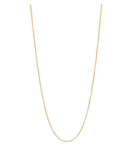 LINKS OF LONDON Essentials 18ct gold vermeil cable chain 60cm (Gold