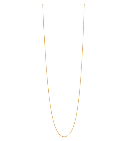 LINKS OF LONDON Essentials 18ct gold vermeil cable chain 80cm (Gold