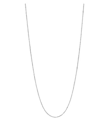 LINKS OF LONDON Essentials sterling silver ball chain necklace 60cm (Silver
