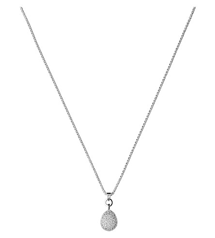 LINKS OF LONDON Hope white topaz pendant necklace