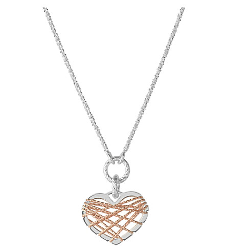 LINKS OF LONDON Dream catcher rose-gold heart pendant necklace