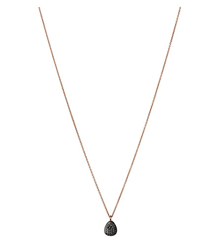 LINKS OF LONDON Hope 18ct rose-gold and black diamond necklace