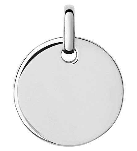 LINKS OF LONDON Narrative sterling silver small oval pendant (Silver