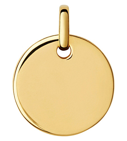 LINKS OF LONDON Narrative yellow-gold vermeil small disc pendant (Gold