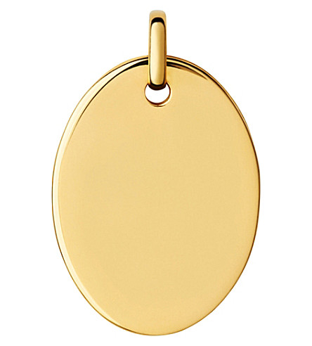 LINKS OF LONDON Narrative 18ct yellow-gold large oval pendant (Gold