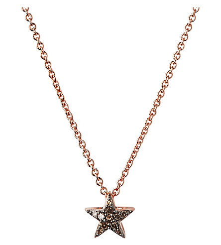 LINKS OF LONDON Diamond Essentials 18ct rose gold-vermeil and diamond necklace