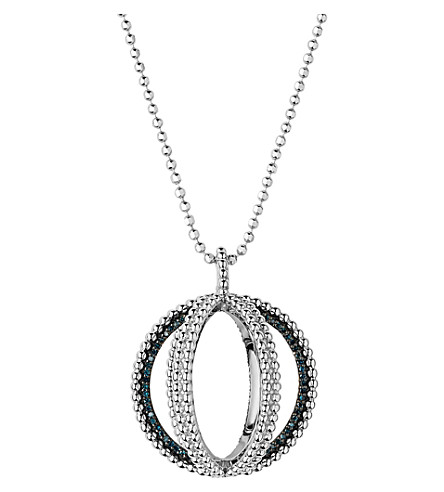 LINKS OF LONDON Effervescence sterling silver and diamond globe necklace