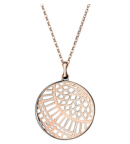 LINKS OF LONDON Timeless 18ct rose-gold vermeil arch necklace