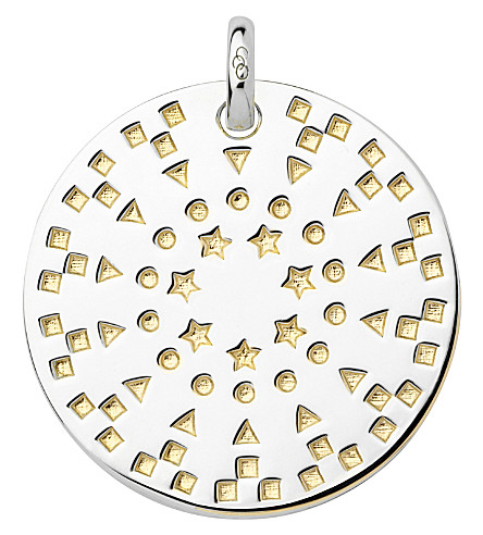 LINKS OF LONDON Ascot Narrative large sterling silver and 18ct yellow gold vermeil pendant