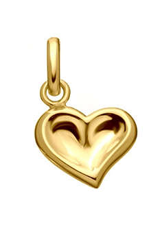LINKS OF LONDON Thumbprint Heart 18ct gold charm