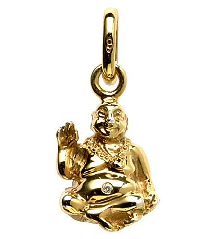 LINKS OF LONDON Laughing Buddha 18ct yellow-gold and diamond charm
